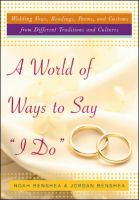 "A World of Ways to Say ""I Do"""