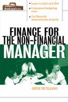 Finance For The Non-financial Manager