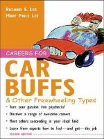 Careers for Car Buffs & Other Freewheeling Types
