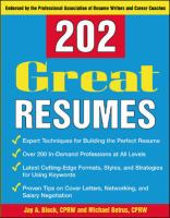 202 Great Resumes