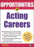 Opportunities in Acting Careers