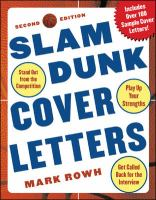 Slam Dunk Cover Letters