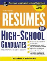 Resumes for High School Graduates