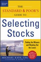 The Standard & Poor's Guide to Selecting Stocks