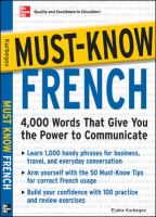 Must know French