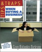 Tips and Traps When Buying A Business