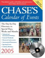 Chase's Calendar Of Events, 2005