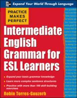 Intermediate English Grammar for ESL Learners