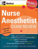 Nurse Anesthetist Exam Review