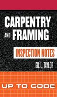 Carpentry and Framing Inspection Notes