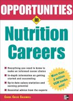 Opportunities in Nutrition Careers