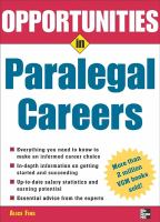 Opportunities in Paralegal Careers