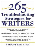 265 Troubleshooting Strategies For Writing Nonfiction