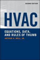 HVAC Equations, Data, and Rules of Thumb