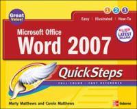 Microsoft Office Word 2007 Quicksteps
