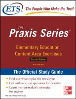 Study Guide for the Praxis Elementary Education
