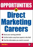 Opportunities in Direct Marketing Careers