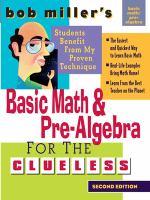 Bob Miller's Basic Math And Pre-algebra