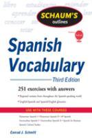 Schaum's Outlines: Spanish Vocabulary