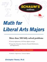 Schaum's Outlines: Mathematics for Liberal Arts Majors