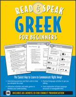 Read & Speak Greek For Beginners