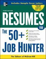 Resumes for the 50+ Job Hunter