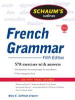 Schaum's Outlines: French Grammar