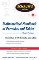 Schaum's Outlines: Mathematical Handbook of Formulas and Tables
