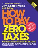 How to Pay Zero Taxes, 2008