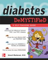 Diabetes Demystified (McGraw Hill Professional)