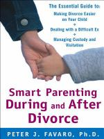 Smart Parenting During and After Divorce