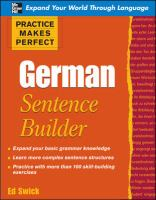 German sentence builder