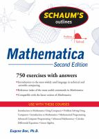 Schaum's Outlines: Mathematica