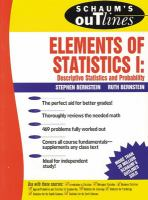 Schaum's Outline of Theory and Problems of Elements of Statistics