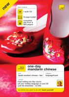 One-day Mandarin Chinese