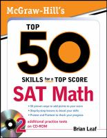 McGraw-Hill's Top 50 Skills for A Top Score