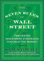 The Seven Rules of Wall Street Crash-tested Investment Strategies That Beat the Market