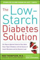 The Low-starch Diabetes Solution