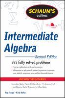 Schaum's Outlines: Intermediate Algebra