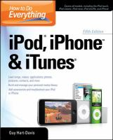 How to Do Everything, IPod, IPhone & ITunes
