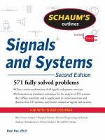 Schaum's Outlines: Signals and Systems