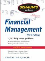 Schaum's Outline of Financial Management