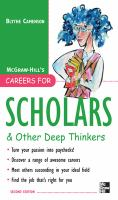 McGraw Hill's Careers for Scholars & Other Deep Thinkers
