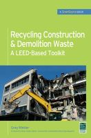 Recycling Construction & Demolition Waste