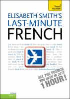 Elisabeth Smith's Last-minute French