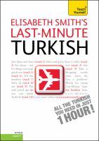 Elisabeth Smith's last-minute Turkish