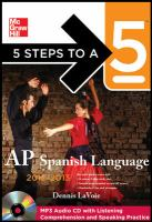 AP Spanish Language, 2012-1013
