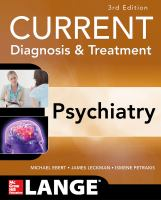 Current D&t Psychiatry 3e (Revised)