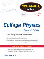 Schaum's Outlines: College Physics