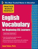 English Vocabulary for Beginning ESL Learners